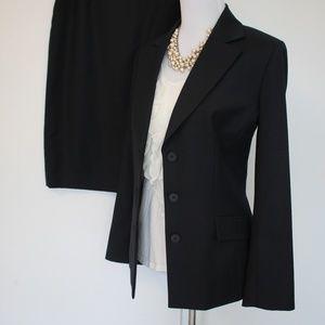 ANNE KLEIN Size 10 Blue Suit Skirt & Blazer